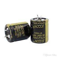 JCCON سميكة قدم مكثف كهربائيا 250v470uf حجم 25x30 22 * 40 العاكس السلطة