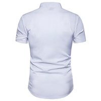 Sleeve Summer Tops Casual Mens Clothing Embroidery Solid Color Mens Dress Shirts Print Floral Short
