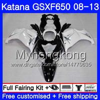 Bodys Para SUZUKI KATANA GSX650F 2008 2009 2010 2011 2012 2013 303HM.47 GSX 650F GSXF650 GSXF 650 preto branco novo 08 09 10 11 12 13 Carenagem