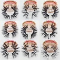 Meilleures ventes Real 3D Mink cils 25mm longs cils longs cils avec mesure Boîtes d'emballage logo privé cils logo
