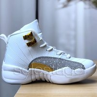 Kinder Junge Mädchen 12 12s Basketballschuhe Baby 2019 New Gym Rot Michigan College Navy Klassiker CNY PLAYOFF Designer XII Sport Sneakers