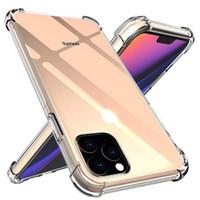 Hava Yastık Anti-Knock Yumuşak TPU Şeffaf Temizle Telefon Kılıfı Darbeye Kapak Koruyun iphone 12 Mini 11 x XS XR Pro Max 7 8 artı