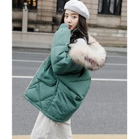 Kadın Aşağı Parkas Fitaylor Büyük Doğal Rakun Kürk Beyaz Ördek Ceket Kadın Kış Ceketler Kapüşonlu Sıcak Kadın Kar Dış Giyim
