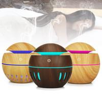 Usb الخشب الحبوب الناشر بالموجات فوق الصوتية المرطب الروائح الروائح البسيطة المحمولة الجوف ميست صانع 7 ألوان الصمام تغيير الناشر 130 ملليلتر RRA899