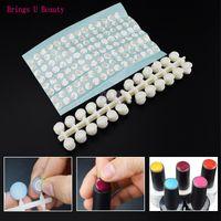 120 puntas de uñas redondas naturales puntas con pegatina Carta de colores Plano posterior UV / Gel / Polaco para la carta de colores de la pantalla Nails Art Tools