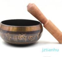 Yüksek Kalite En Budizm Budist Meditasyon Şifa Gevşeme Desen Random için Bowl Striker Singing Nefis Tibet Bell Metal