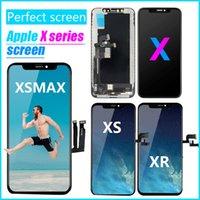 % 100 OLED Ekran iPhone X için - Yepyeni Satış Sonrası LCD Ekran Dokunmatik Ekran Digitizer Komple Montaj Değiştirme iPhone XS XR XSMAX için