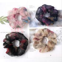 Capelli elastici Lady capelli Scrunchies Anello puro Bobble colori Danza sportiva Lace Charming Scrunchies Hairband Accessori