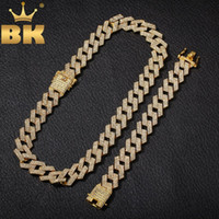 THE BLING KING 20mm Miami Prong Cuban Chain NE+ BA 3 Row Full...