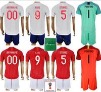 b861bd053 2018 2019 Soccer 9 Harry Kane Jersey Men 5 John Stones 14 Danny Welbeck Football  Shirt Kits Uniform Custom Name Number Goalkeeper White