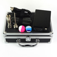 Electric Dab Enail Box Kit 10mm 16mm 20mm Coil E-Nail Kits 1000C Max Temperature E Nail Colorful Control Box With Titanium Nails