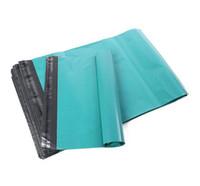 100 unids / lote bolsa autoadhesiva de mensajería envasando envases de envases de plástico envolvente mailer envoltura bolsa de embalaje verde color verde