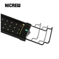 Nicrew Extendible LED Aquarium Light Accessory Soporte Ajustable Acero inoxidable Montaje de montaje Soporte Soporte Soporte para luz LED