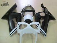 Настроить инъекции обтекатели комплект для Kawasaki 2003 2004 Ninja ZX6R ZX636 03 04 ZX-6R 636 белый черный ABS пластиковый корпус обтекатель комплекты