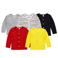 Kids Girl Sweater Solid Girls Cardigan V Neck Toddler Coat L...