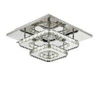Piazza cristallo 36W lampada a soffitto LED moderna Lignt Apparecchio di cristallo A sospensione per Soggiorno Camera da letto