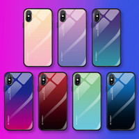 Phone Case gradually changing color Cover Tempered glass pro...