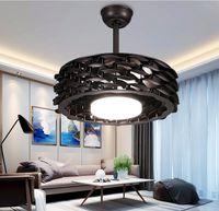 Новый безлистный потолочный вентилятор лампа гостиная лампа потолочные светильники люстра освещение преобразование частоты интеллектуальное освещение подвесные светильники