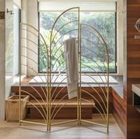 Ванная комната делители роскоши светого железо складного экран одежда и шляпа стойка спальня гостиная складной перегородка экрана подвижная перегородка