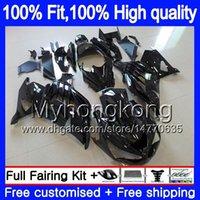 Para la inyección KAWASAKI ZX 14R ZZR1400 2006 2007 2008 2009 2010 2011 Gloss negro 223MY.50 ZZR1400 ZX14R ZX14R 06 07 08 09 10 11 carenados
