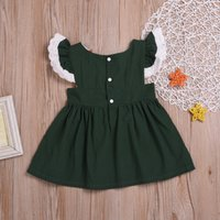 Infant Toddler Baby Girls Correa sólida Sin respaldo Princesa Sundresses Trajes Drop Shipping