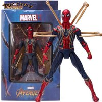 TOY CHEST Brand Hot Sale Avengers Infinity War Iron Spider Man Figura de acción Modelo Anime Movie Toy para niños Regalo de cumpleaños Envío gratis