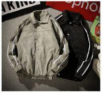 Uomo Giacche autunno e inverno Moda Classic Plus velluto a coste Jacket Lettera Stampa del lato Stripe Large Size M-5XL