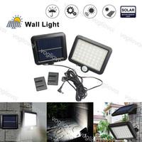 Lampada da parete del sensore di movimento di sicurezza solare 56leds White Waterproof Led LED Giardino da giardino Lampade a corridoio DHL