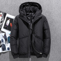 Tide men' s hooded down jacket short paragraph 2019 Wint...