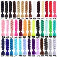 Kanekalon Синтетические плетеные Волосы вязание крючком оплетки Twist Onle Ombre Color Синтетические наращивания волос
