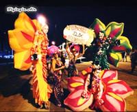 Ala attraente attraente di camminata di stile gonfiabile di camminata del fiore gonfiabile di stile del fiore di prestazione per il palcoscenico e la decorazione di dancing