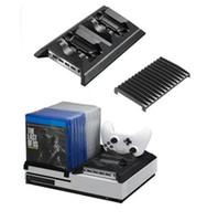 Yoteen لـ Xbox One Slim ONE S مروحة التبريد لعبة قرص تخزين القرص حامل وحدة تحكم شحن حوض محطة لعبة مجموعة الملحقات