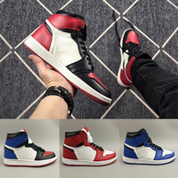 Hot 1 OG TOP 3 Banned Bred Royal Blue Mid hare Mens Basketba...