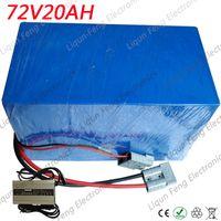 72V 2500W batería 72V 20V Batería de litio 72V 20AH Bicicleta eléctrica Uso de la batería 3.7V 5.0AH Celda Construido en 40A BMS + 84V Cargador.