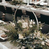 Düğün Sahne Noel Partisi Dekorasyon Ferforje Hoop Daire Yuvarlak Yüzük Kemer Backdrop Çiçek Düzenleme Raf Standı
