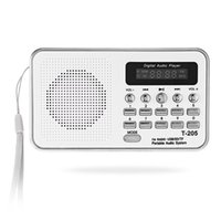 Altoparlante portatile Mini FM Radio HiFi Card Digitale stereo multimediale MP3 Lettore musicale Camping Hiki Sport T-205 Spedizione gratuita BA