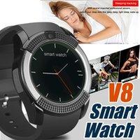 V8 Смарт часы браслет часы группы С 0.3M камера SIM IPS HD Full Circle дисплей Смарт часы для Android системы с Box-4