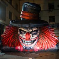 5m 높은 거대한 이상한 풍선 풍선 광대 inflatables 나이트 클럽 할로윈 무대 또는 퍼레이드 장식을위한 두개골 마스코트