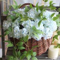 Mini Six Angle Hydrangea Kunstblumen aus Seide Simulations-Blumen-Startseite Hochzeit Dekoration Bouquet Hot Verkauf 1 35ydE1