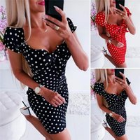 Pajamas Home Service Summer Dress Women Girl Boho Polka Dot ...