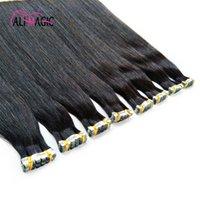 Dhgate atacado dupla Drawn Invisível Fita Remy Hair Extensions Tape Em Extensões de cabelo humano 14 16 18 20 22 24 26inch 100g / 40piece