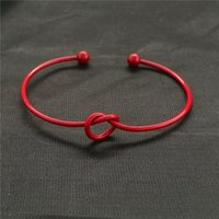 New Chic Fashion Simple Knot Bangle Cuff Open Bowknot Bracel...