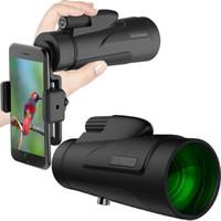 Telescópio grande ocular monóculos 12x50 HD High Power Night Vision Light Light Light Portable Com Telefone Móvel Fotografia para iPhone Samsung