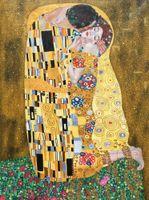 Foglia oro Gustav Klimt dipinti ad olio il bacio gli amanti dell'arte su tela dipinto a mano belle opere d'arte per la decorazione della parete camera da letto soggiorno