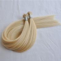 مزدوجة تعادل شقراء اللون 613 مروحة تلميح الشعر ملحقات ريمي الشعر موجة مستقيم 1 جرام لكل قطعة 200 جرام لكل لوط، مجانا dhl