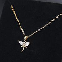 jóias libélula pingente de colar de zircão de prata banhado a gargantilhas colar para mulheres moda quente livre do transporte