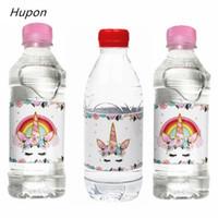 24 adet Büyülü Unicorn Şişe Çıkartmalar Etiket Çocuklar için Mutlu Doğum Günü Partisi Süslemeleri Çocuk BabyShower Unicorn Parti Malzemeleri