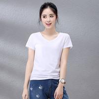 WCK004 2019 hochwertige T-Shirt Designer T-Shirts Frauen Casual T-Shirt Mode Rundhalsausschnitt Musterdruck Baumwolle Kurzarm