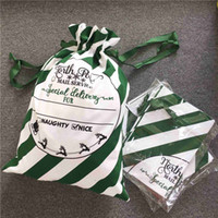 Stripe Verde Santa Sacks pode misturar cores doces sacos grandes decrescrição de Natal