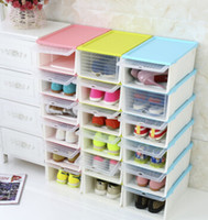 Shoes Storage Box Drawer Style Plastic Shoes Boxes Creative ...